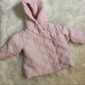 Baby Gap pink puffer jacket, 18-24 months